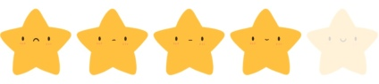 4 stars rating
